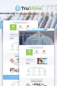 TruShine Laundry Service WordPress Theme Big Screenshot