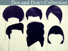 The Dos & Don't Collection - 6 Large Photo Prop Hairdos Garage Party, Cheers Photo, Free Collage, Retro Diner, Happy Photos, Prom Photos, Spa Party, Large Photos, Photo Booth Props