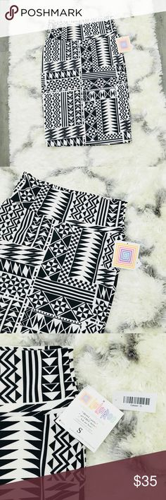 """Lularoe Cassie Black and White Skirt Cute Black and White Skirt. NWT in great condition. Waist 28"""" Length24"""". LuLaRoe Skirts"""
