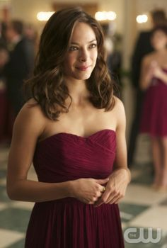 "Ideal bridesmaid dress & hair from CW's Beauty and the Beast -- ""Bridesmaid Up!"" -- Pictured: Kristin Kreuk as Catherine Candler-- Photo: Sven Frenzel/The CW — Image Number: BB108a_0129.jpg -- © 2012 The CW Network, LLC. All rights reserved."