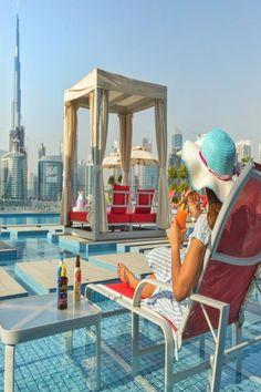Located in Dubai and with Dubai Aquarium & Underwater Zoo reachable within In Dubai, Dubai Hotel, Outdoor Swimming Pool, Swimming Pools, Dubai Aquarium, Hotel Apartment, Apartments, Beautiful Hotels, Baking