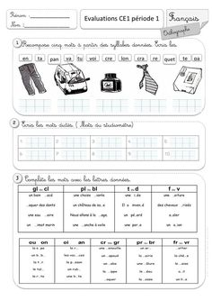 French Flashcards, French Worksheets, French Education, French Grammar, French Classroom, Syllable, Teaching French, Learn French, Kids And Parenting