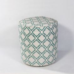 Arabesque Pouf Ottoman Color: Ivory/Teal - http://delanico.com/ottomans/arabesque-pouf-ottoman-color-ivoryteal-588822083/