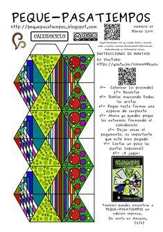 Caleidociclo: PEQUE-PASATIEMPOS Flextangle Template, Templates Printable Free, Printable Designs, Free Printables, Projects For Kids, Diy For Kids, Crafts For Kids, Arts And Crafts, Art Projects