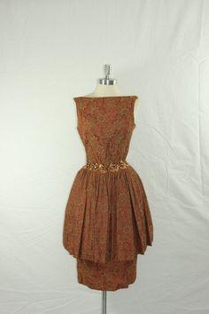 1950s Vintage Dress  GIGI YOUNG Designer by VintageFrocksOfFancy, $220.00