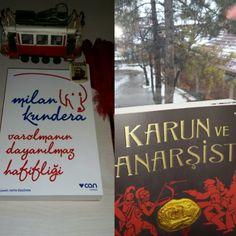 2017 Ocak'ta Okuduklarım  1) Var Olmanın Dayanılmaz Hafifliği / Milan Kundera  2) Kârun ve Anarşist / İskender Pala   📖 İkisi de tavsiye kitaplardır. Keyifle okumanız dileğiyle...