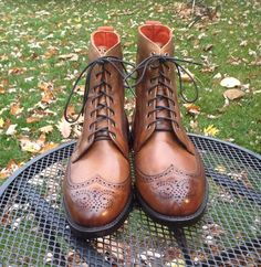 Allen Edmonds Dalton Boots in Bourbon Calf 10.5D 10.5EEE #AllenEdmonds #DressBoots