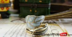 Korean popular retro colour glaze leaf ring_Ring_Jewellery_Cheap Clothes,Cheap Shoes Online,Wholesale Shoes,Clothing On lovelywholesale.com - LovelyWholesale.com
