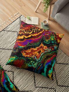 « Lave multicolore  » par LEAROCHE Throw Pillows, Furniture, Home Decor, Floor Cushions, Lava, Products, Toss Pillows, Cushions, Home Furnishings