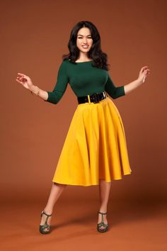 Amiable New Look Green Cotton Skirt Size 18 Fancy Colours Clothing, Shoes & Accessories