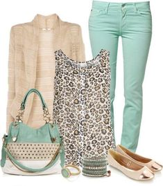 I am loving the use of mint green these days