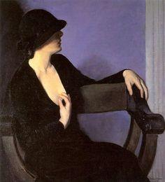 Studio di una donna in nero, 1932 Bernhard Gutmann (1869-1936)