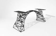 151No Baustahl Tischgestell Fundament Bridge