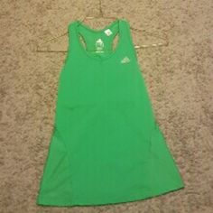 Green Adidas built in bra tank top Green Adidas built in bra tank top Tops Tank Tops