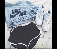 Trendy how to wear nike air force outfit high tops ideas Nike Outfits, Teen Fashion Outfits, Fashion Kids, Sport Outfits, Trendy Outfits, Winter Outfits, Summer Outfits, Workout Outfits, Fashion Shoes
