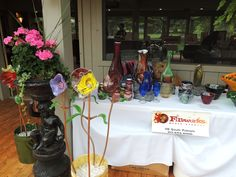 Private showing of the art created at Fireworks Glass Studios by Dave Porter and Rhonda Baker