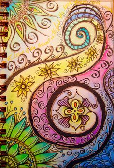 Colorful #zentangle design