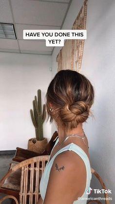 Bun Hair Tutorials, Hair Tutorials For Medium Hair, Prom Hair Tutorial, Medium Hair Styles, Curly Hair Styles, Prom Bun Hairstyles, Prom Hair Bun, Easy Hairstyles For Long Hair, Trendy Hairstyles