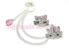 Hello Kitty Crystal Ear Cuff