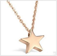 NWT Little Gold Star Charm Necklace