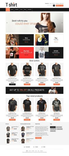 'T-shirts Clothes' #webdesign for #Jigoshop Template http://zign.nl/48027
