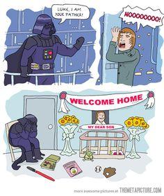 """""""Je suis ton père"""". Il avait tout prévu... """"Et Dark Vador retourna dans sa dépression..."""""""