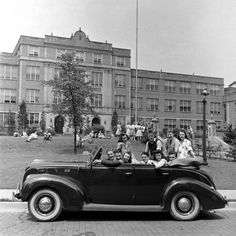 """75 years ago, in the June 1941 issue, LIFE went to a high school graduation in Mansfield, Ohio. Pictured here from the photo essay: """"Graduation present for Jim Gorman was this second-hand Ford,. High School Years, High School Seniors, High School Graduation, Graduate School, Mansfield Ohio, The Rite Of Spring, National Honor Society, Us Cars, Life Pictures"""