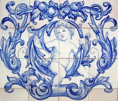 Hand Painted Ceramic Tile Murals by Portuguese Tiles Painting Ceramic Tiles, Tile Art, Painted Tiles, Tile Murals, Portuguese Tiles, Decorative Tile, Hand Painted Ceramics, Tile Design, Custom Paint