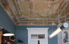 AnneLiWest Berlin Office Lighting, Decor, Inchyra Blue, Pendant Light, Interior, Fireplace, Home Decor, Restaurant Interior, Ceiling Lights