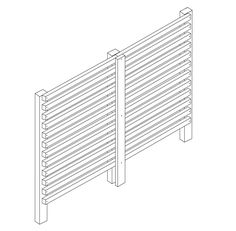 How to construct a slatted screen fence
