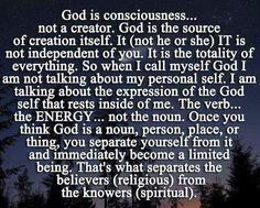 Well stated. Nothing is outside of God, only the beliefs that someone or something is. All R One In Spirit allareoneinspirit.com