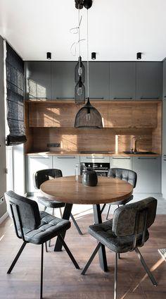 Kitchen Room Design, Kitchen Cabinet Design, Modern Kitchen Design, Home Decor Kitchen, Interior Design Kitchen, Kitchen Furniture, Kitchen Cabinets, Small Kitchen Designs, Kitchen Ideas For Small Spaces