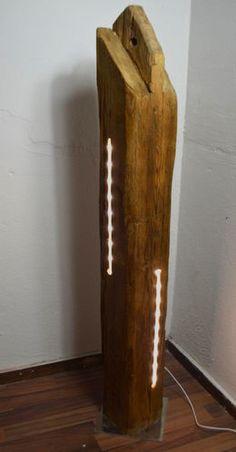 Holzbalken mit LED Stripse, Modell XVIII