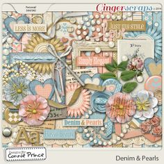 Denim & Pearls - Kit from Designs by Connie Prince. Be sure to check out the coordinating add-ons for this kit!  Just gorgeous!