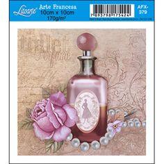 Papel para Arte Francesa Litoarte 10 x 10 cm - Modelo AFX-379 Perfume Salmão - CasaDaArte