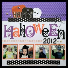 Scrapping with Christine: 10 Halloween Scrapbook Layout Ideas & Tips