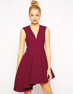 This ASOS Skater Dress is the perfect party outfit — and it comes in Marsala, Pantone's Color of the Year 2015