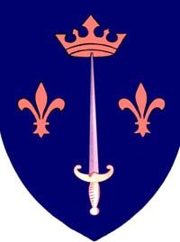 D'Arc family coat of Arms. Given tot he family by King Charles VII