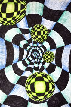 Art I: Op Art Drawings | Lessons from the K-12 Art Room