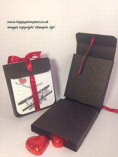 Happy Stampers: Sale-A-Bration Sundays male valentines double fold choc treat box