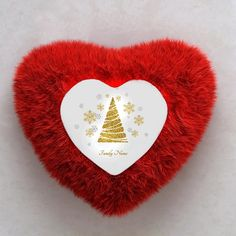 Let the glitter and sparkles make your christmas celebration memorable with a heart shaped red satin and fur personalized cushion. Christmas Is Coming, Christmas 2019, Merry Christmas, Christmas Gifts, Online Gift Store, Personalised Cushions, Red Satin, Heart Shapes, Sparkles