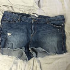 Torrid short shorts size 24 Cute shorts from torrid. Some of the beading on the side has fallen off. torrid Shorts Jean Shorts