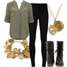 Just lose the jewelry and this is definitely something Shael would wear. Well, the locket thing could stay; she'd wear that.