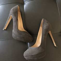 Zara Heels Reposh! Black faux suede pumps; previously used; zara size 37 (65/7); price firm Zara Shoes Heels