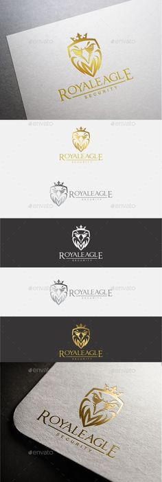 Royal Eagle Logo  — EPS Template #gold #falcon • Download ➝ https://graphicriver.net/item/royal-eagle-logo/18709083?ref=pxcr