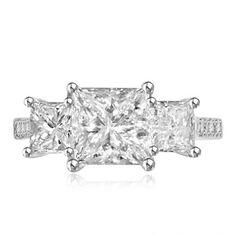 Ceridwen 3-Stone Diamond Ring