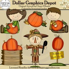 Happy Fall - Clip Art - $1.00 : Dollar Graphics Depot, Quality Graphics ~ Discount Prices