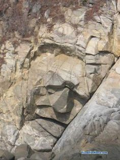 made by mother nature. See the face in the rock?