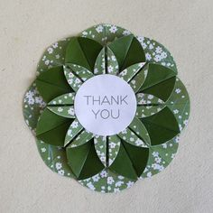 Origami thank you card by juliedyecraft on Etsy