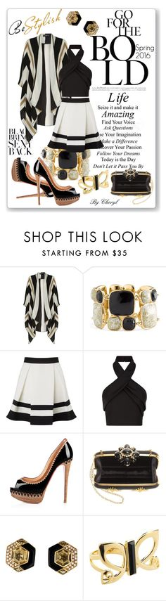 """""""Untitled #1746"""" by cheryl-astablewoman ❤ liked on Polyvore featuring Dorothy Perkins, Kate Spade, Lipsy, Finders Keepers, Privé, Oscar de la Renta and Biba"""